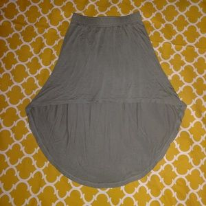 Old Navy Size 6/7 Girls' Small Olive Hi-Low Skirt